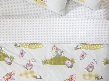 Lovely Dragon Pamuklu Tek Kişilik Çocuk Nevresim 160x220 Cm Yeşil