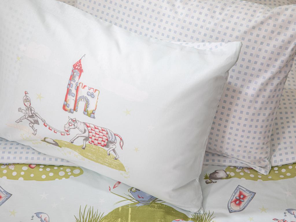 Lovely Dragon Pamuklu 2'li Çocuk Yastık Kılıfı 50x70 Cm Yeşil