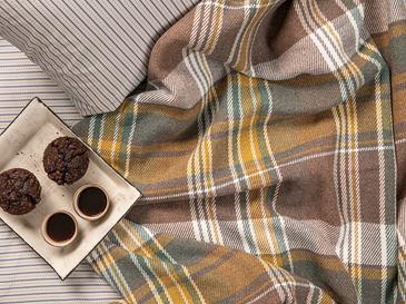 Stemford Scotch Çift Kişilik Battaniye 200x220 Cm Bej