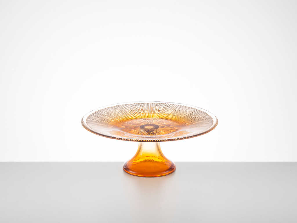 Fuchsia Cam Kek Standı 21 Cm Amber