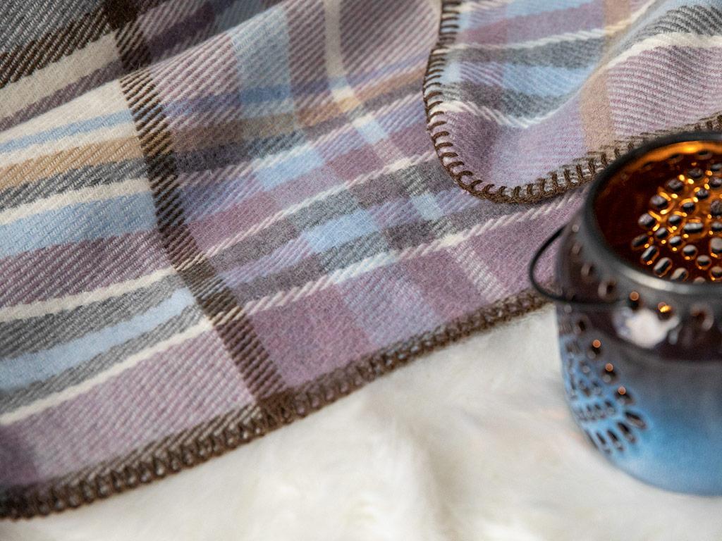 Grandford Scotch Çift Kişilik Battaniye 200x220 Cm Lila