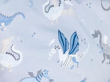 Dragon Pamuklu Çocuk Nevresim Takımı 160x220 Cm Mavi