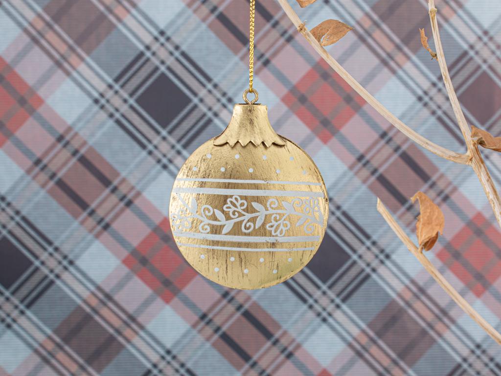 Happy New Year Askılı Aksesuar 6,5x8,5cm Açık Altın