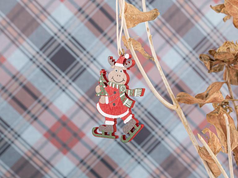Happy Winter Askılı Aksesuar 4,5x6,6cm Kırmızı
