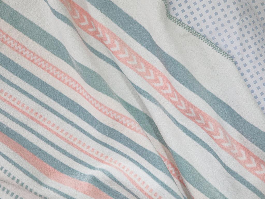 Pure Stripe Pamuklu Tek Kişilik Battaniye 150x200 Cm Pembe