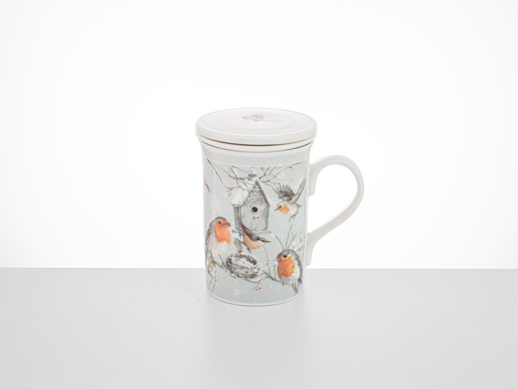 Bird Love Porselen Demleme Bardağı 18,0x16,5x8,0 Cm Beyaz