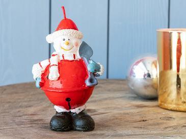 Snow Man Mum 6,6x5,6x10,7 Cm Kırmızı