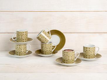 Bradley Porselen 6'lı Kahve Fincan Takımı 80 Ml Yeşil