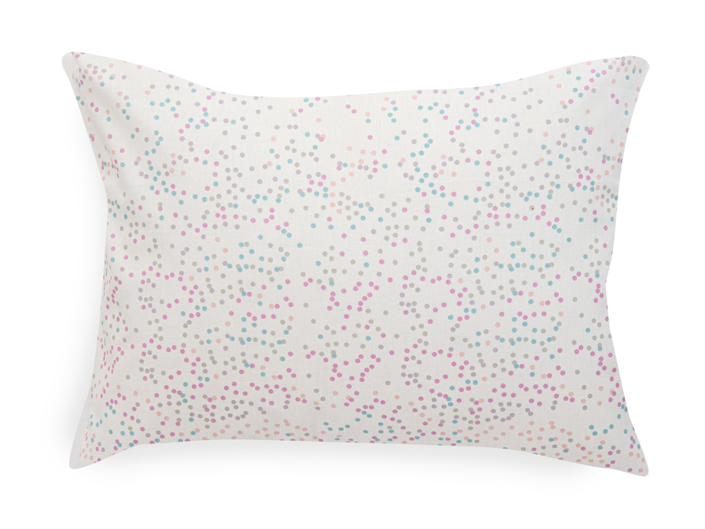 Mini Dots Pamuklu Bebe Yastık Kılıfı 35x45 Cm Pembe