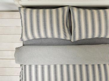 Pure Cotton İpliği Boyalı Pamuklu King Size Nevresim Takımı 240x220 Cm Gri