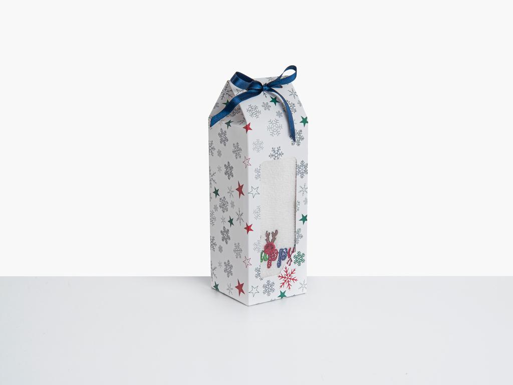 Happyyd Nakışlı Paketli Hediyelik Havlu 40x60 Cm Krem