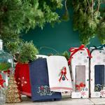 Winter Joy Yd Nakışlı Paketli Hediyelik Havlu 40x60 Cm Bej