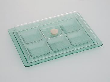 Mathilda Cam Kapaklı Kahvaltılık 36x26 Cm Yeşil