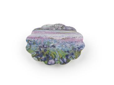 Flower Melamin Nihale 21 Cm Krem - Mor