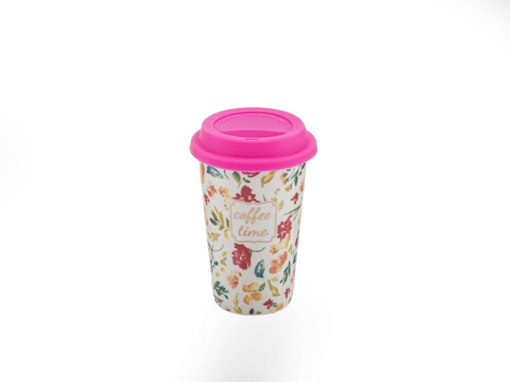 Pink Lady New Bone Travel Mug 350 Ml Koyu Pembe