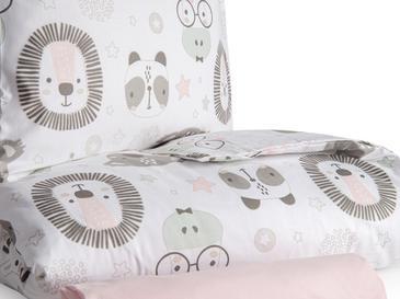 Sweet Animals Pamuklu Bebe Nevresim Takımı 100x150 Cm Beyaz