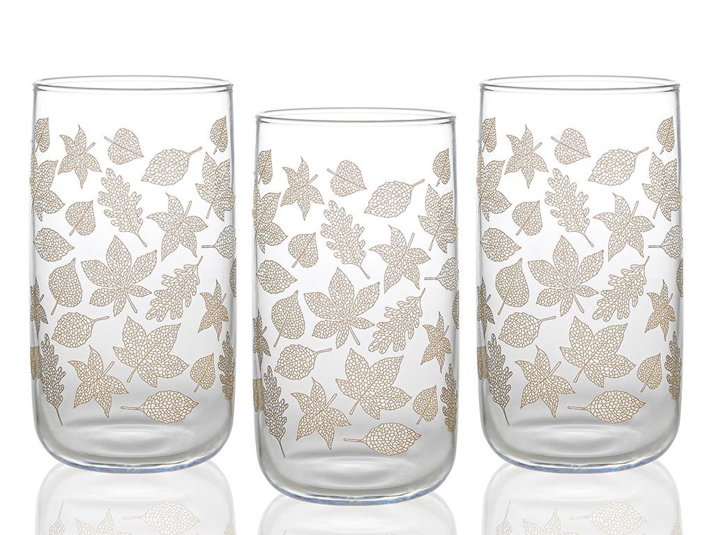 Allure Cam 3'lü Meşrubat Bardağı 365 Ml Açık Altın