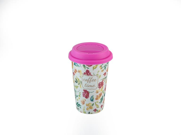 Alicia New Bone Travel Mug 350 Ml Koyu Pembe
