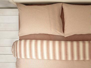 Pure Cotton İpliği Boyalı Pamuklu King Size Nevresim Takımı 240x220 Cm Tarçın