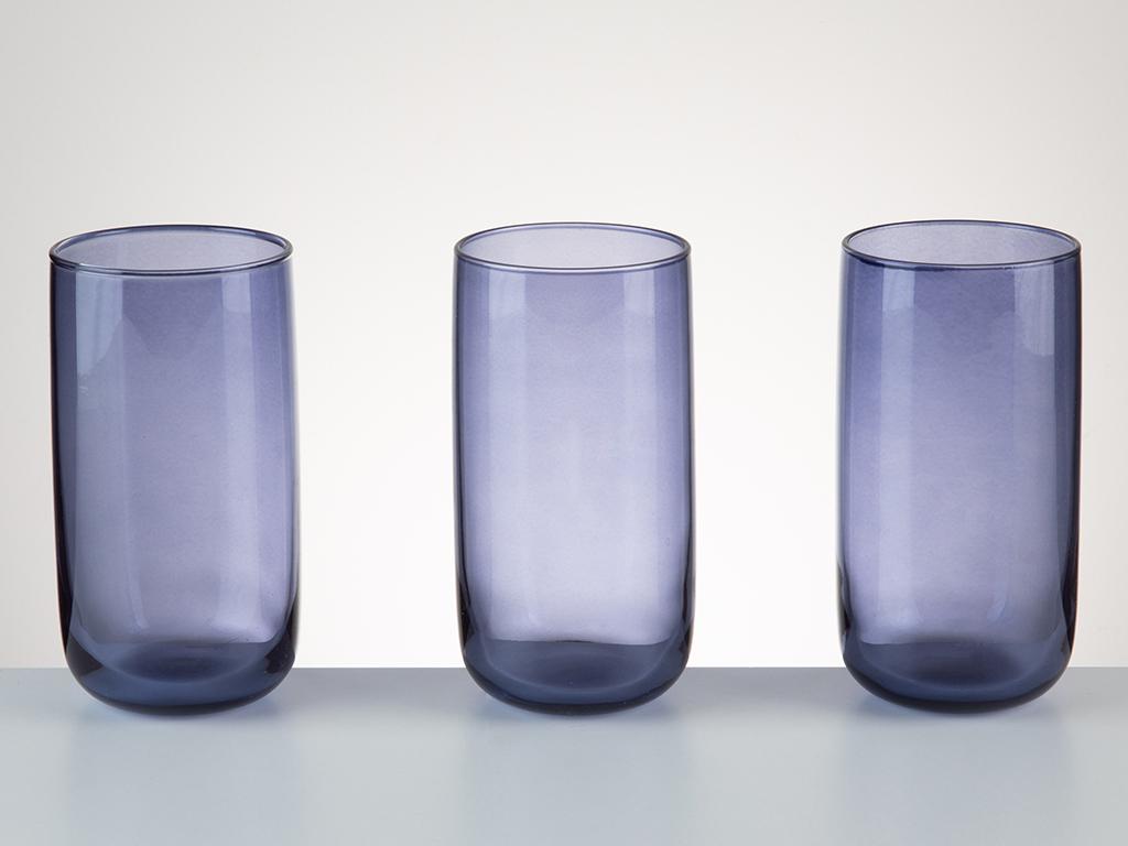 Avin Cam 3'lü Meşrubat Bardağı 365 Ml Mavi