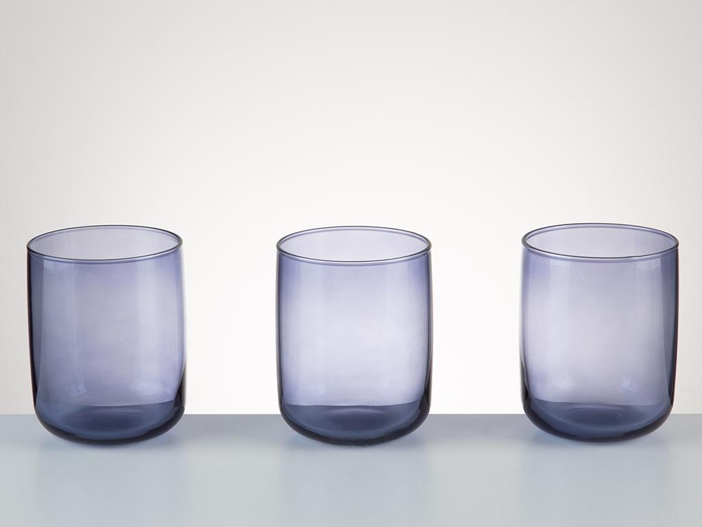 Avin Cam 3'lü Meşrubat Bardağı 270 Ml Mavi