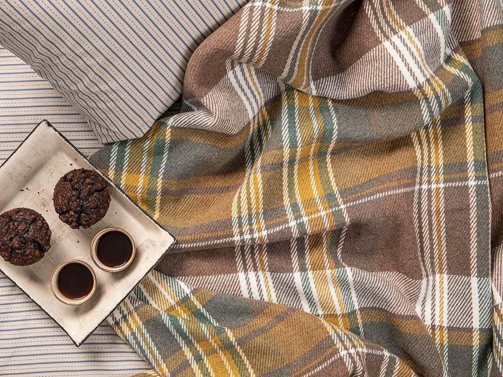 Stemford Scotch Tek Kişilik Battaniye 150x200 Cm Bej