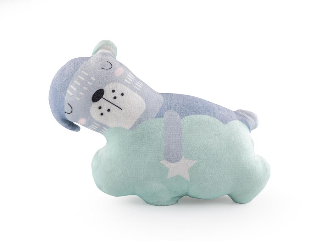 Sleepy Bear Dekoratif Yastık 50x28 Mavi