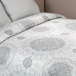 Mandala Çift Kişilik Çok Amaçlı Yatak Örtüsü 200x220 Cm Gri