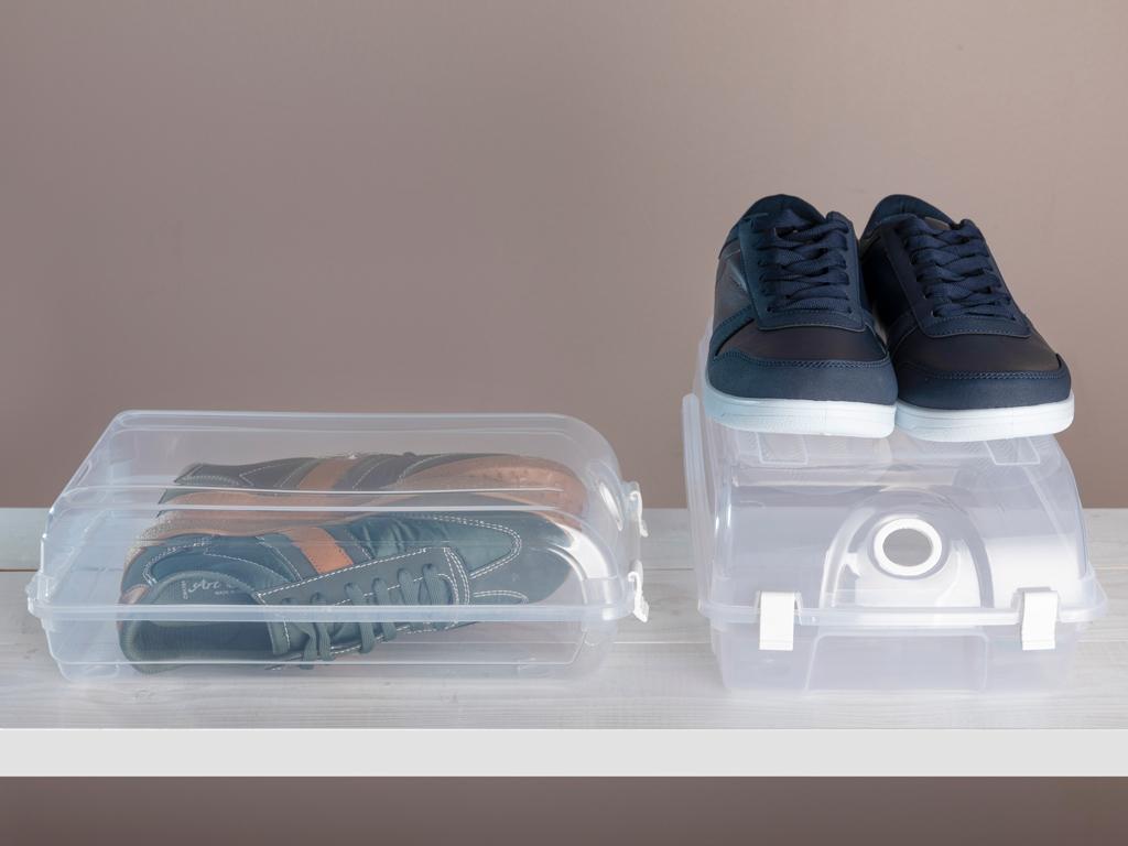 Fancy Ayakkabı Saklama Kutusu 32x19x10 Cm Şeffaf
