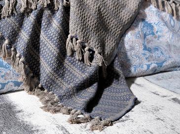 Urban Folk Armürlü Çift Kişilik Yatak Örtüsü Takımı 240x260 Cm Lacivert