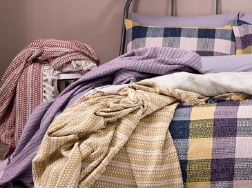 Urban Folk Armürlü Çift Kişilik Yatak Örtüsü Takımı 240x260 Cm Sarı