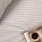 Urban Stripe Pamuklu Tek Kişilik Çarşaf 160x240 Cm Mavi
