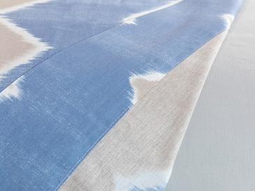 Pure Ikat Pamuklu Çift Kişilik Üst Çarşaf 240x255 Cm Mavi