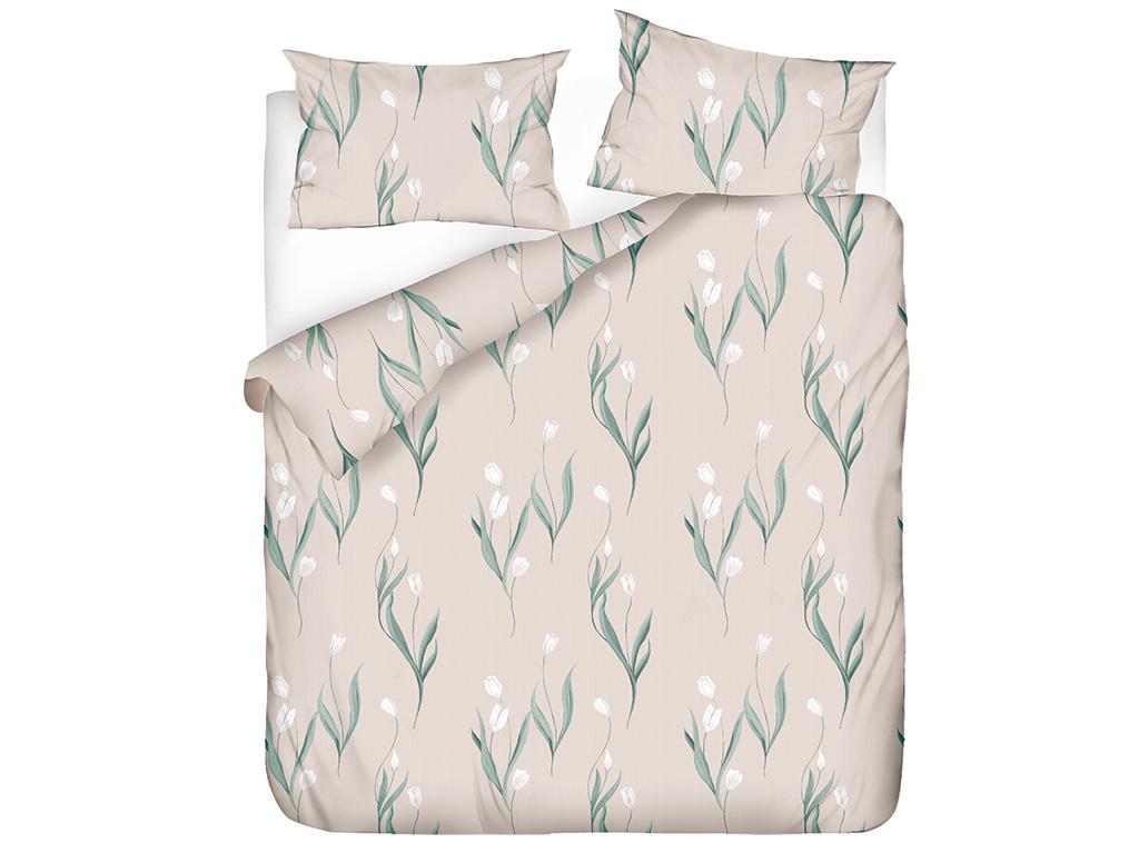 Tulip Garden Pamuklu Çift Kişilik Nevresim Seti 200x220 Cm Pembe