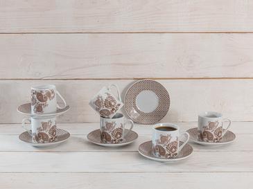 Bloom Porselen 6'lı Kahve Fincan Takımı 80 Ml Açık Kahve