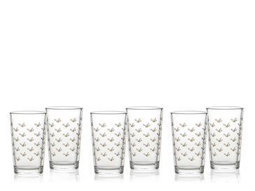 Kokina Cam 6'lı Kahve Yanı Su Bardağı 100 Ml Gold