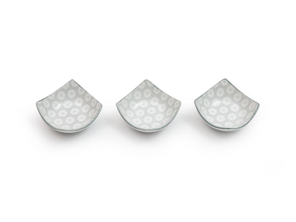 Loya Porselen 3'lü Çerezlik 8.5x8.5x3.9 Cm Seledon