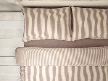 Pure Cotton İpliği Boyalı Pamuklu Çift Kişilik Nevresim Takımı 200x220 Cm Bej