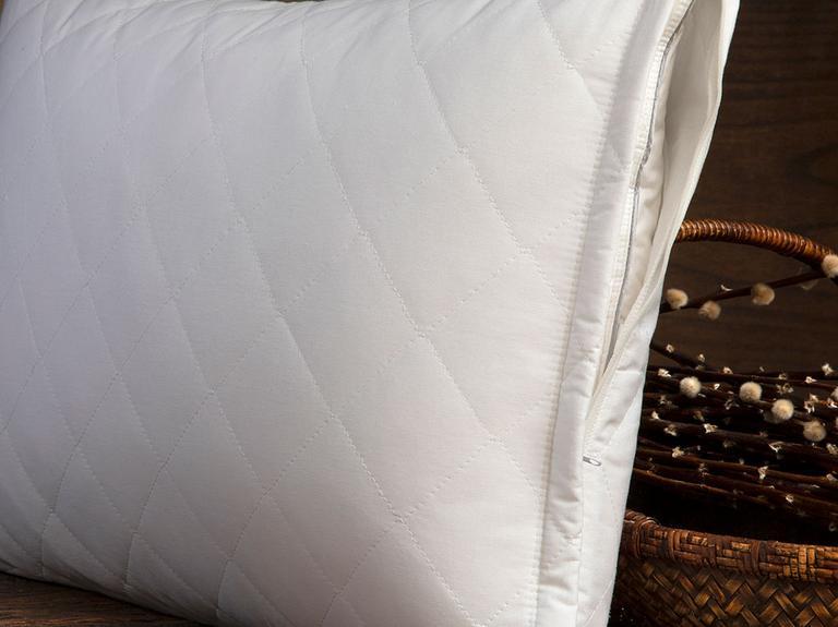 English Home Pamuklu Kapitoneli Yastık Koruyucu 50X70 Cm Beyaz