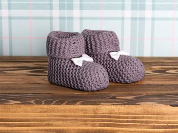 Pure Pamuk Bebe Çorap 0-3 Ay Pudra
