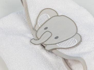 Happy Elephants Pamuklu Çocuk Panço 2-3 Yaş Beyaz