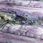 Iris Pallida Pamuklu King Size Nevresim Seti 240x220 Cm Lila