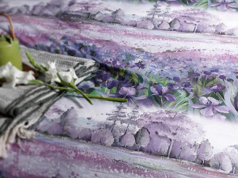Iris Pallida Pamuklu Çift Kişilik Nevresim Seti 200X220 Cm Lila