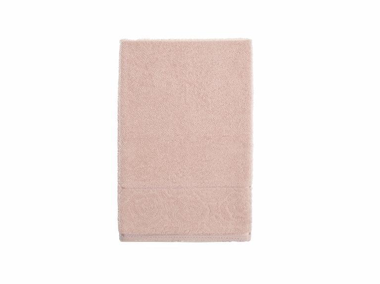 Rosa Stripe Jakarlı Yüz Havlusu 50X76 Cm Nude