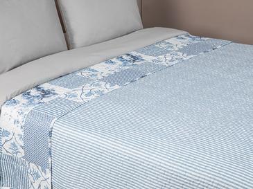 Toile King Size Çok Amaçlı Yatak Örtüsü 240x220 Cm Mavi