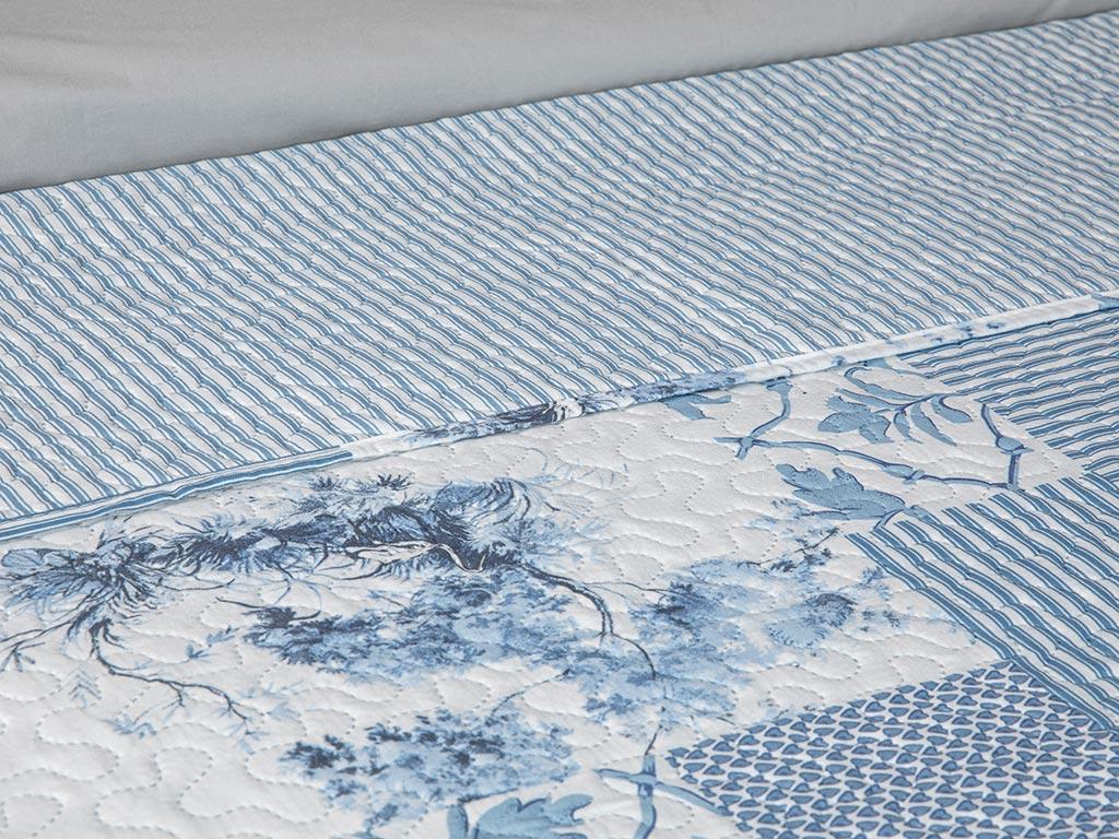 Toile Çift Kişilik Çok Amaçlı Yatak Örtüsü 200x220 Cm Mavi