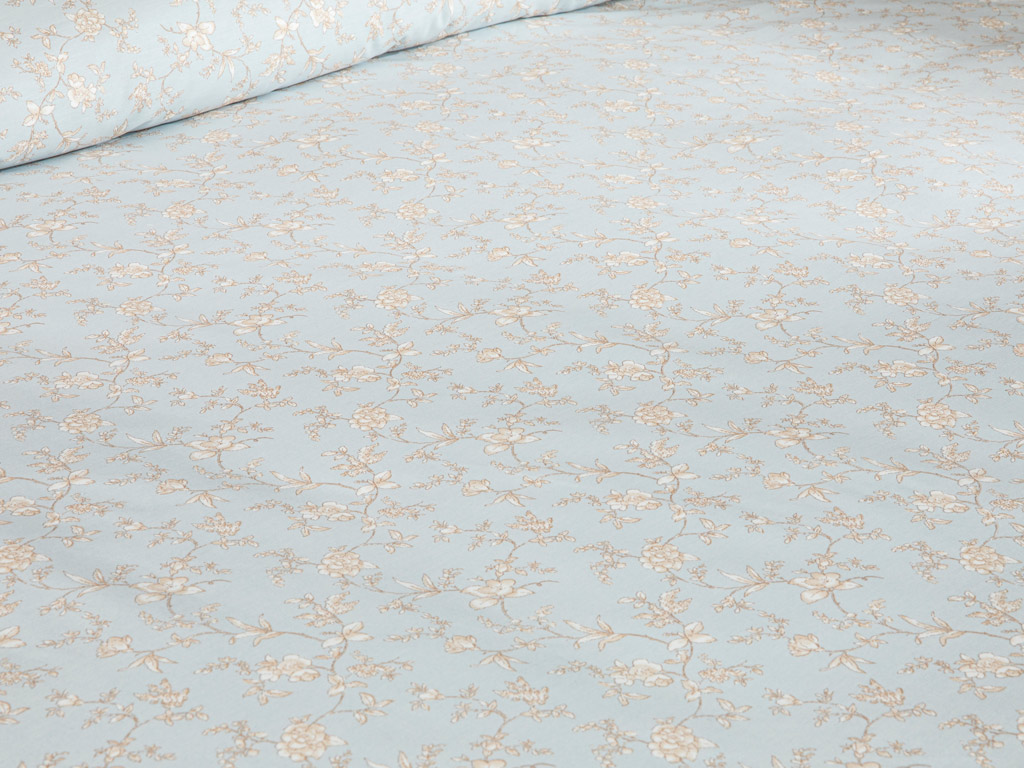 Brittle Pamuklu Çift Kişilik Nevresim Takımı 200x220 Cm Açık Mavi