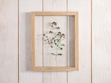 Flower Garden Glass/mdf Tablo 20x2x25 Cm Yeşil