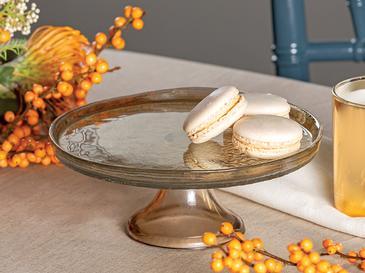 Porpois Cam Kek Standı 21 Cm Amber
