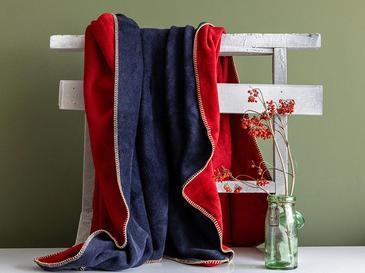 Softy Düz Tek Kişilik Battaniye 150x200 Cm Kırmızı - Lacivert